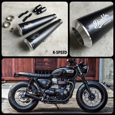 TWO BROTHERS COMP-S Dual S/O Exhaust Polished Triumph