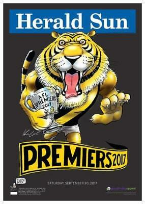 2017 Richmond Black Limited Edition Premiers Premiership Mark Knight Poster #459