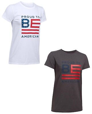 966fa1524e Under Armour Women's UA Freedom Proud To BE American Flag Loose Fit T Shirt  NWT