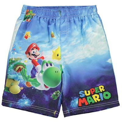 Boys Nintendo Super Mario Board Shorts Swimming Trunks ages 4 through to 12 NEW