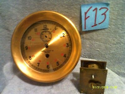 """Chelsea 6"""" solid brass ship clock with English movement ????"""