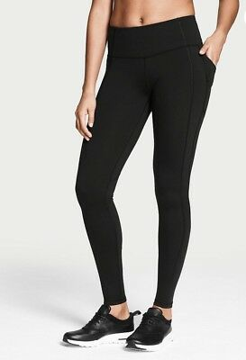 VICTORIA SPORT Knockout by Victorias Secret Pocket Tight Black Small R New!