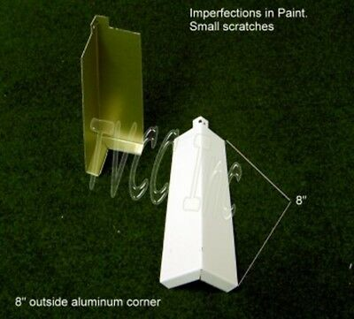 """10 ea. - 8"""" smooth aluminum siding corners for Aluminum Siding New (Scratched)"""