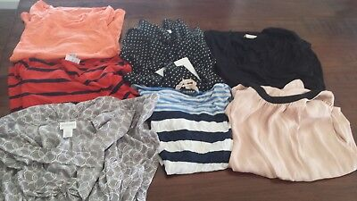 LOT OF MATERNITY CLOTHES S & M 7 Pieces tops