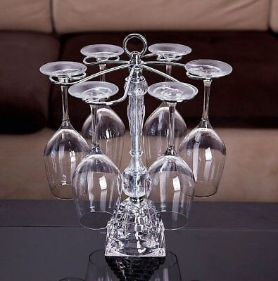 Six-seat Crystal wine champagne glass stand holder rack hanger. Hoteison