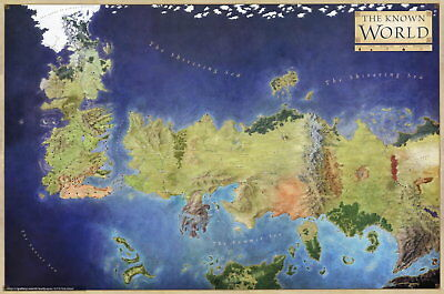 60723 Game of Thrones The known world map Wall Print Poster AU