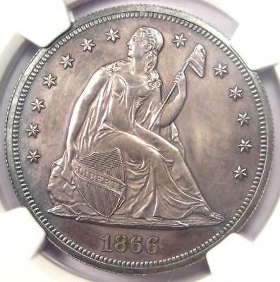 1866 PROOF Seated Liberty Silver Dollar $1 - NGC Proof Details (PR/PF) - Rare!