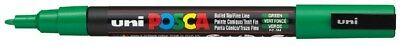 (Pack Of 1) - Uni Posca PC-3M Green Colour Paint Marker Pen 1.5mm Fine Bullet