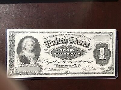 BEP Proof Print or Intaglio of $1 Silver Certificate 1886 Face Martha Washington