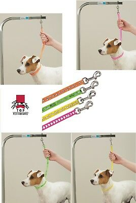 Fashion PRINT PAW BONE HEART GROOMER LOOP Noose for PET Grooming Table Arm,Bath