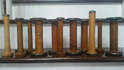 Antique bobbins spools set of 12