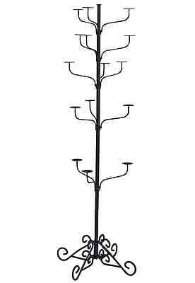 Hat Display Rack Boutique 5-Tier Millinery Floor Stand Custom Dark Grey Retail