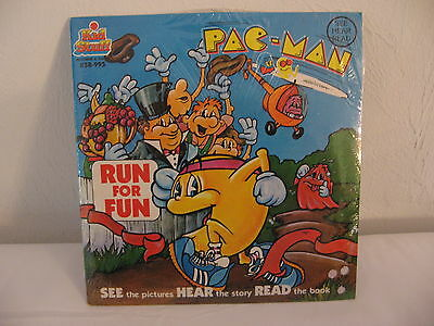 Vintage 1980's Pacman Ms Pacman  ***  Run For Fun Record ***  Sealed Rare  !!!
