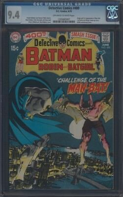 Detective Comics (1937) #400 Cgc 9.4 Nm Oww Origin & 1St App Of Man-Bat