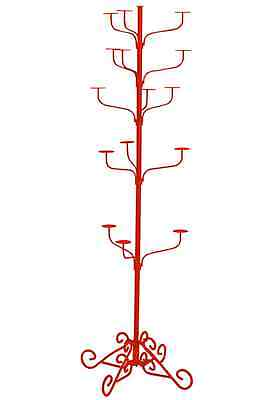 Hat Display Rack Boutique 5-Tier Millinery Floor Stand Custom Burnt Orange