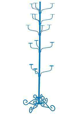 Hat Display Rack Boutique 5-Tier Millinery Floor Stand Custom Blue