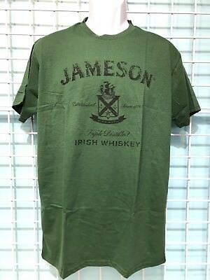 Jameson Irish Whiskey Mens Green T-Shirt. SZ Large. 100% Cotton. Brand New.