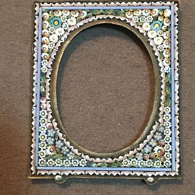 """Micro Mosaic Miniature Picture Frame Italy Blue No Stand 2 3/8"""""""