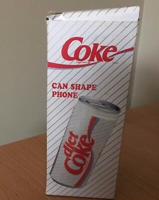 Vintage 1994 Coke Diet Coke Can Shape Telephone New In Box
