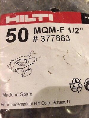 "Hilti MQM-F 1/2""  377883 fire stopping hardware new in package 50 pieces"
