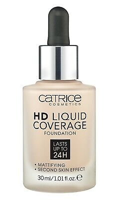 Catrice - Liquid HD Foundation Coverage - 010 Light Beige. Delivery is Free