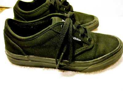 812bd20016 VANS OFF THE Wall Black Canvas Skate Shoes Sneakers KIDS Size 3.5 -  9.98