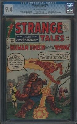 Strange Tales (1951) #116 Cgc 9.4 Nm Oww 1St Thing Cross-Over Ditko Art