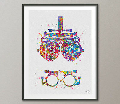 Optometry Tool Watercolor Print Optometrist Optician Poster Eye Ophthalmology