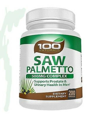 100 Naturals Saw Palmetto Capsule : 500mg Berry Extract (200caps)