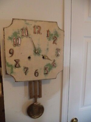 Antique Sessions Mission Style Wall Clock-8 Day-Working-Circa 1900!