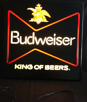 BUD LOGO & BUDWEISER KING OF BEERS Lighted Sign