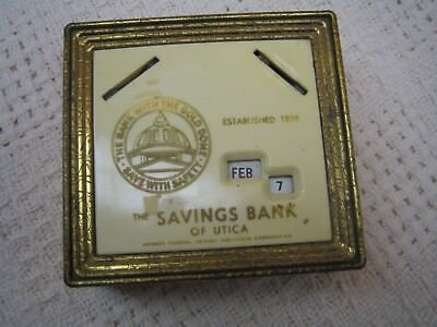Vintage The Savings Bank of Utica Metal Bank