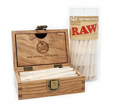 RAW Organic 1 1/4 Pre-Rolled Cones with Filter Tips - Bundle (75 Pack with New