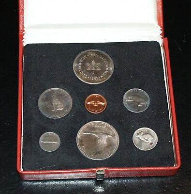 1967 Canada Mint Set - 7 COINS - 2 LARGE SILVER COINS