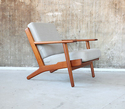 60er HANS J. WEGNER Getama GE-290 Teak SESSEL Danish 60s EASY CHAIR oak Kvadrat