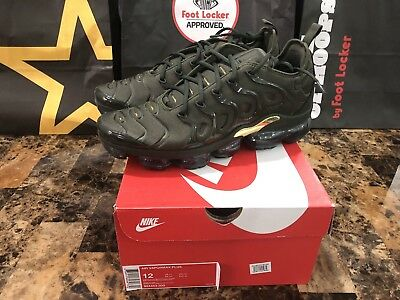 7c11814f7fc NEW Nike Air Vapormax Plus Olive Green Cargo Khaki Sequoia Gold 924453-300