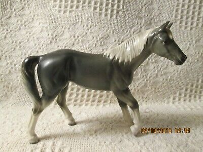 REDUCED VINTAGE CERAMIC GREY HORSE , With tag:NATIONAL POTTERIES #C5973  JAPAN