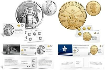 2017 Stanley Cup 125th Anniversary & Toronto Maple Leafs Anniversary Coin Packs