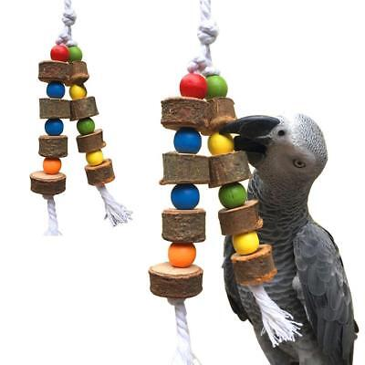Bird Chew Bite Toy Wooden Bell Cage Swing Toys For Cockatiel  2018