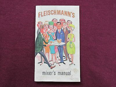 Vintage,fleischmann's Distiling Mixer's Manual,pamphlet,advertising Collectible