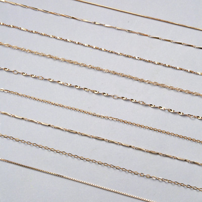Multi-style Classic Real 925 Sterling Silver Rose Gold Plated Chain Necklace