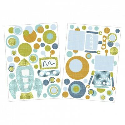 Living Textiles Lolli Living Baby Bot Wall Decals - on The Go 504002. Brand New