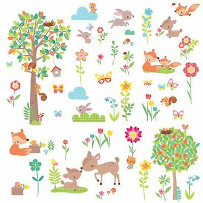 Wall Decal - Roommates - Woodland Creatures Peel/Stick