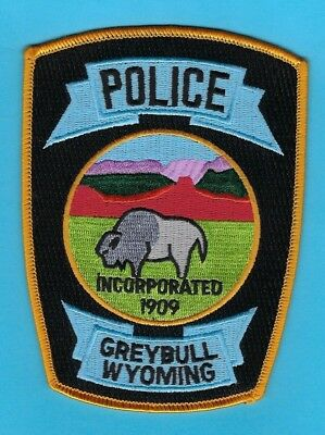 Greybull Police Department Patch ~ Wyoming ~ Beautiful Artwork & Colors ~ L@@k