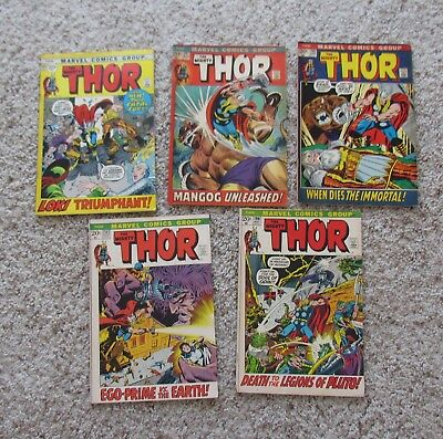 """Lot Of 5  Issues Marvel """" The Mighty Thor """" #194+197+198+199+202 / Very Good-Vf+"""