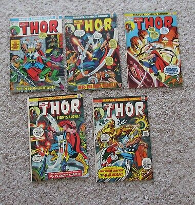 """Lot Of 5  Issues Marvel """" The Mighty Thor """" #213+214+215+216+218 / Very Good-Vf+"""