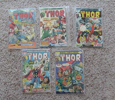"""Lot Of 5  Issues Marvel """" The Mighty Thor """" #233+235+236+237+239 / Very Good-Vf+"""