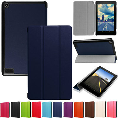 Tablet Case Flip Leather Smart Cover For Amazon Kindle Fire HD 10 2017 7th Gen