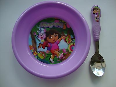 Dora Child's Dinning Set Bowl With Fork & Spoon