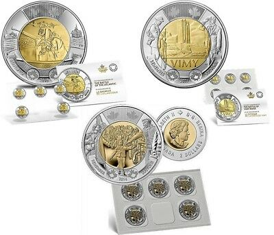 Battle Of The Atlantic Coin Pack with Battle Of Vimy Ridge & Wait For Me Daddy